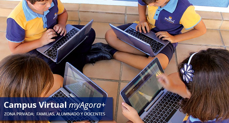 Campus virtual en el colegio privado bilingüe
