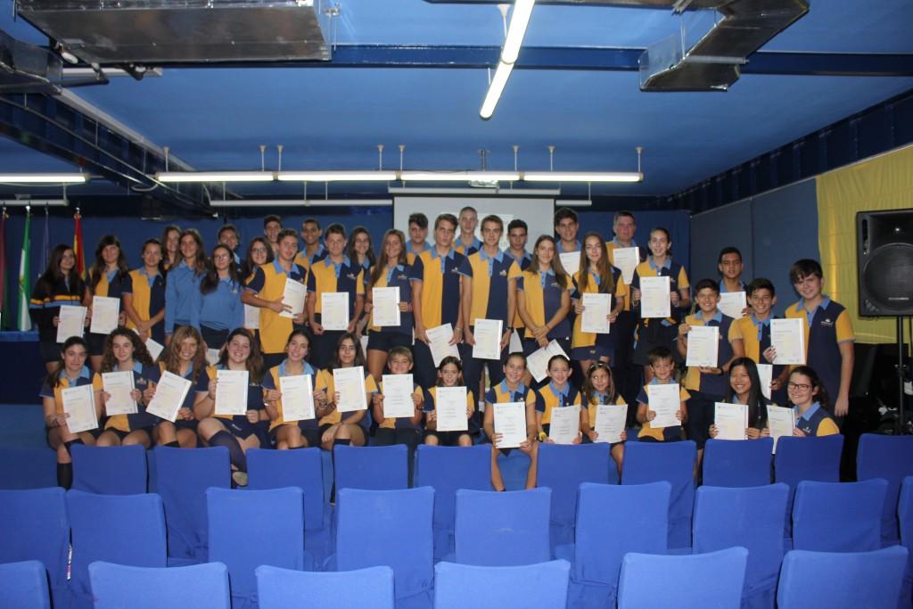 Grupo alumnos certificado Cambridge Añoreta 2016