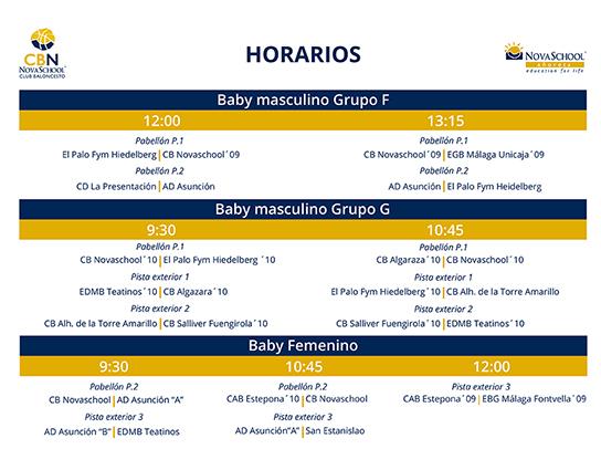 HORARIO CONCENTRACIÓN BABY
