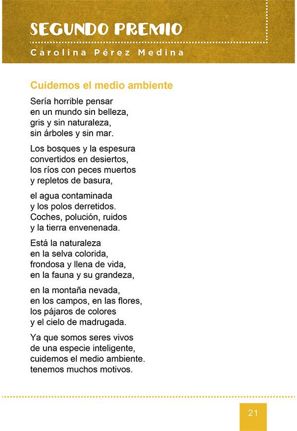 Cuidemos El Medio Ambiente Poema Premiado Del Certamen