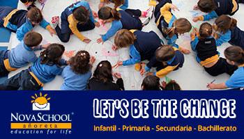 Alumnos pintando en el colegio privado de Málaga este Novaschool Añoreta