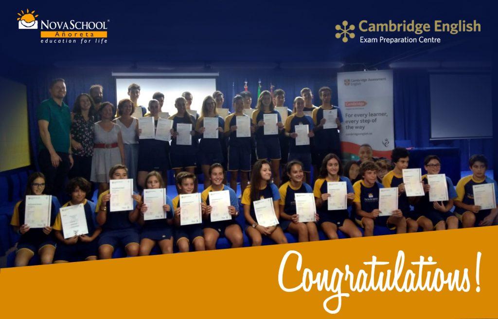 Entrega certificaciones Cambridge