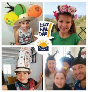 alumnos y familias con sombreros