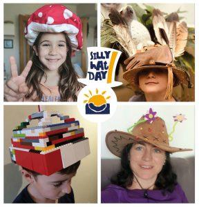 alumnos y profes con sombreros
