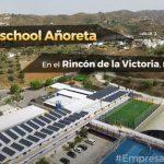 Vista aerea de la instalacion de placas solares del colegio