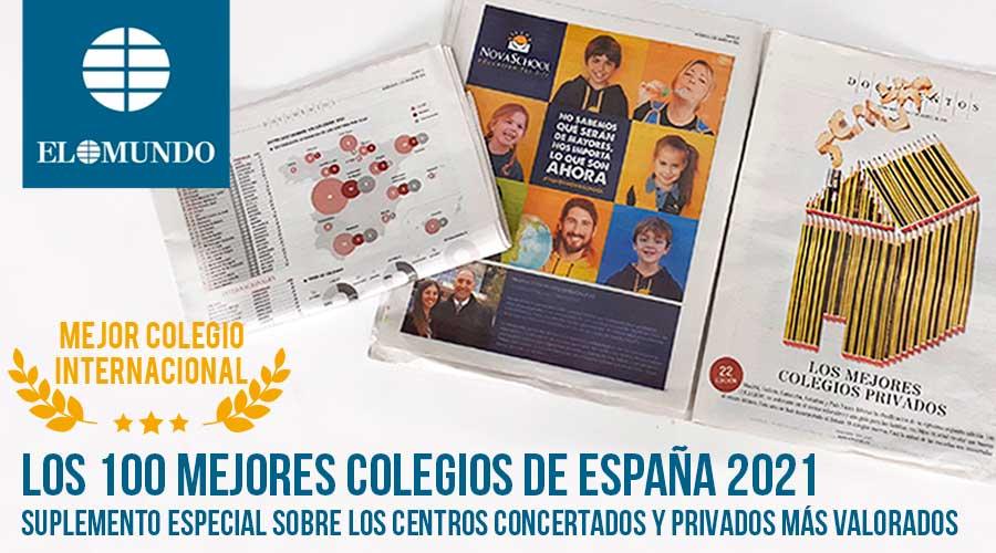 Imagen del periódico el Mundo donde aparecen los 100 mejores colegios de España